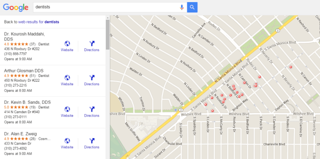 Dentistas de marketing do Google Maps Beverly Hills