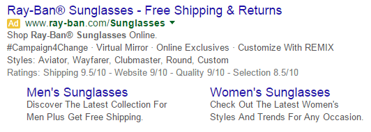 Increase sales online use ad extensions