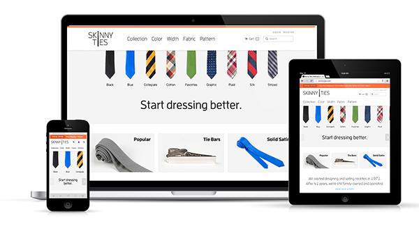Increase sales online responsive design ecommerce example