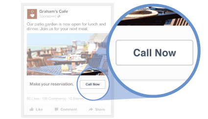 Increase sales online use Facebook click-to-call ads