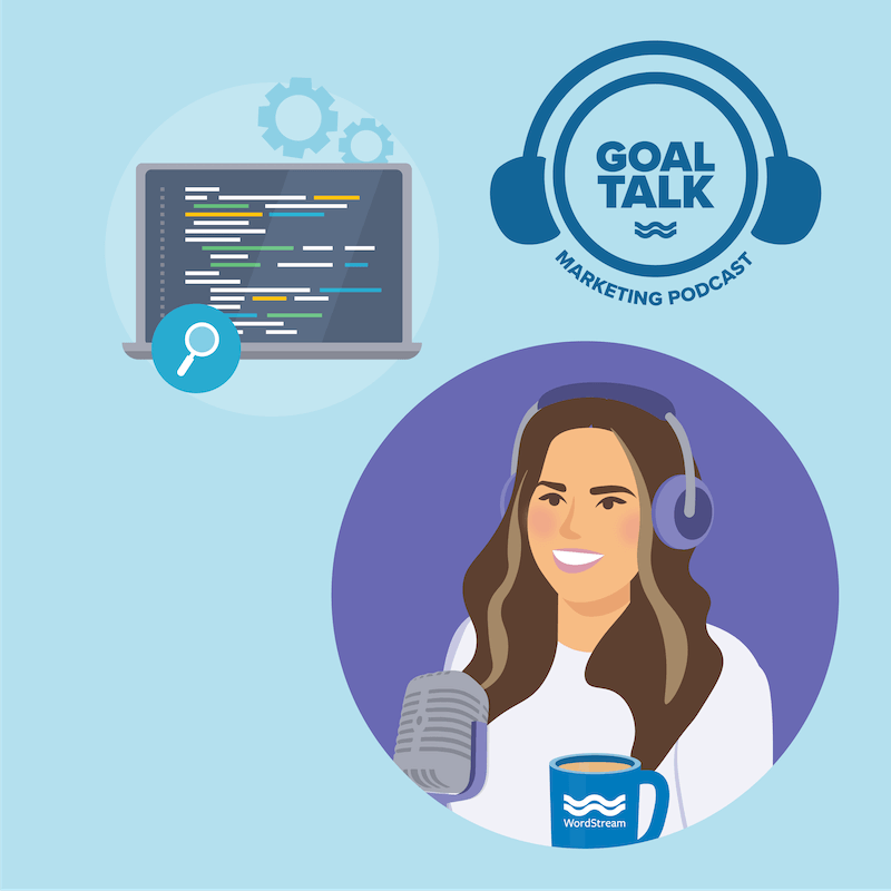 Goal talk podcast episode 16 cover artwork - SEO for small businesses.