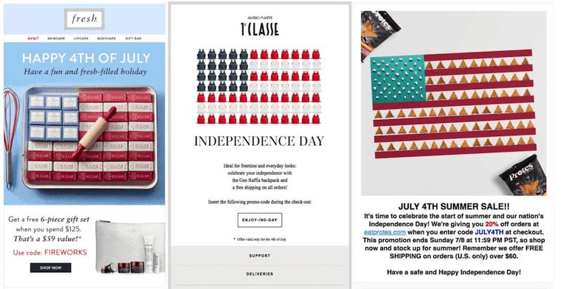 july marketing ideas american flag art