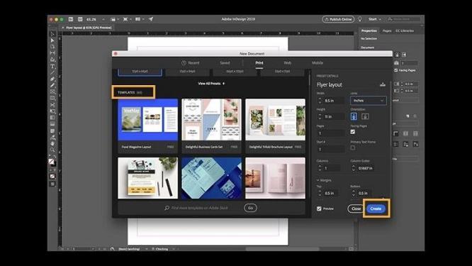 Ferramentas de marketing Adobe InDesign