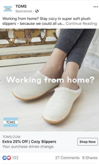 Toms WFH ad