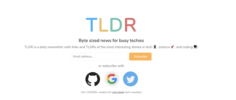 creative newsletter names TLDR