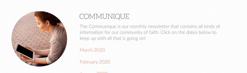 creative newsletter names communique