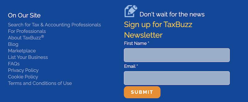 creative newsletter names taxbuzz