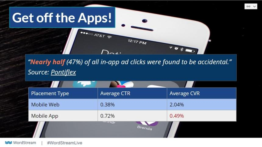 app display placements