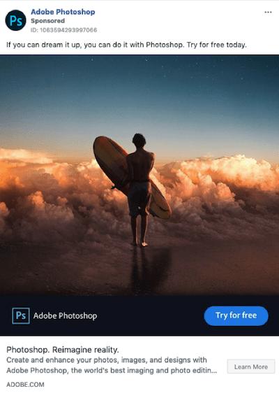 facebook sponsored posts example adobe photoshop