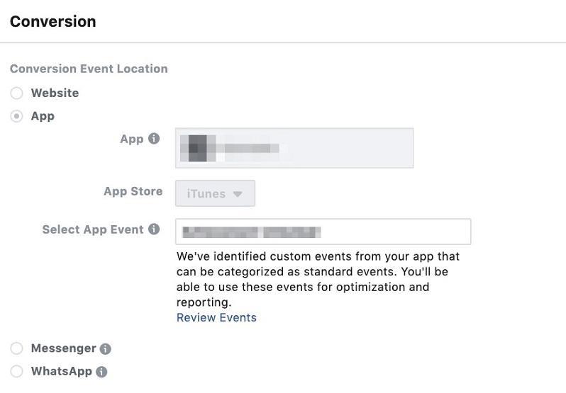 Facebook conversion campaigns
