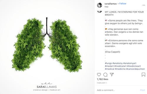 free november marketing ideas lung cancer awareness art