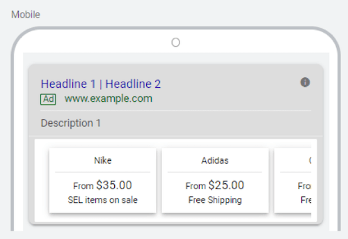 google ads price extensions price extension items