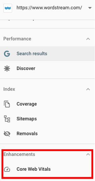 google page experience template search console