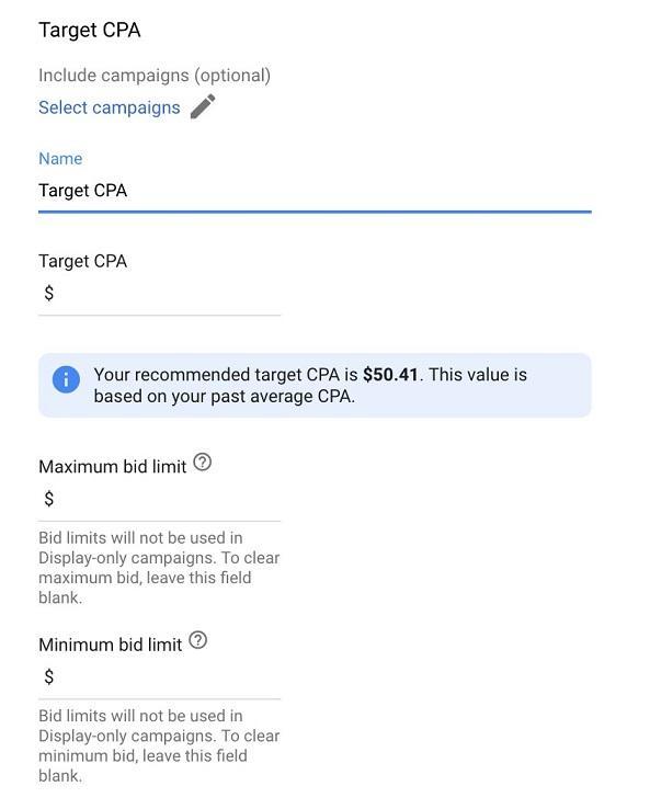 Menetapkan Target CPA