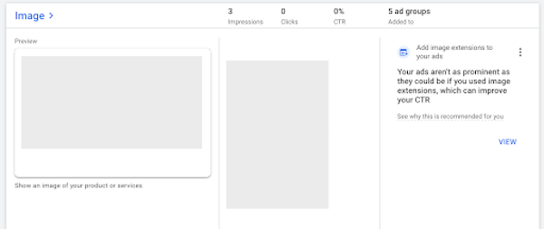 google ads image extensions placement ratios