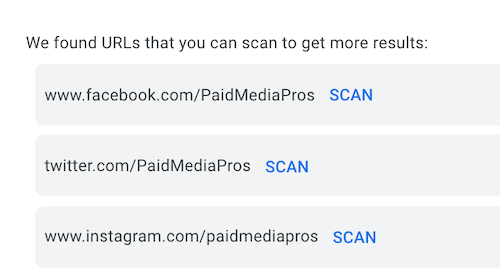google ads image extensions—url scan suggestions feature
