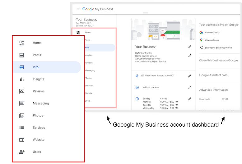 how to rank higher on google maps gmb dashboard tabs magfied