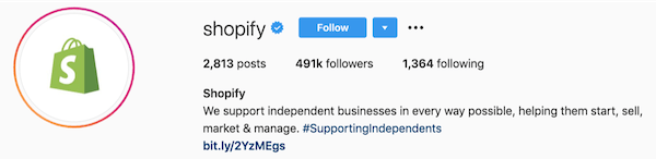 instagram bios shopify