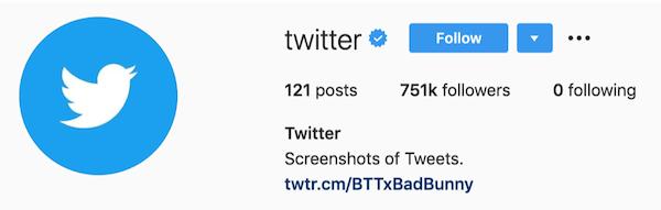 instagram bios twitter