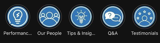 Instagram Story Highlights on WordStream's profile