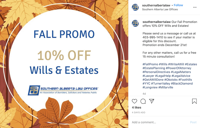 sales promotion examples fall sale