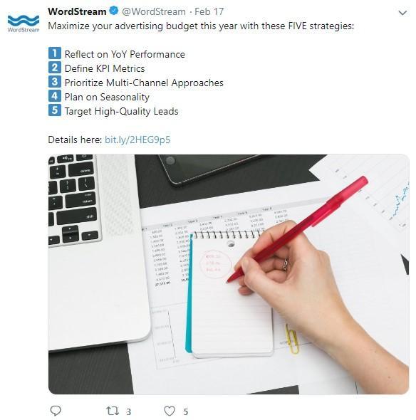 tweet de promotion de contenu