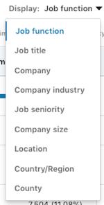 linkedinwebsite demographics linkedin job function