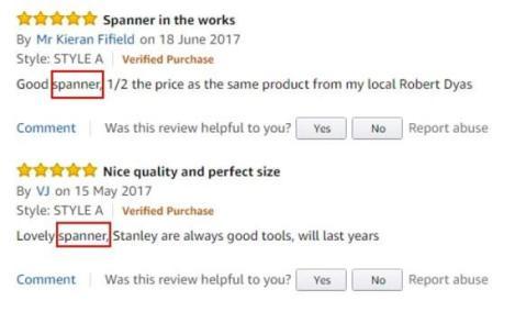 comentários de clientes na cópia do anúncio