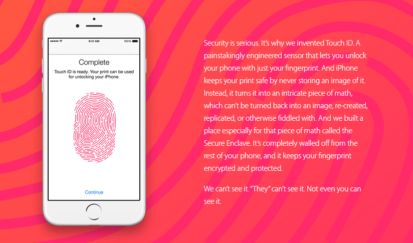 Value proposition examples iPhone security features