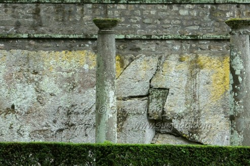 Old wall and pillars, Villa Lante