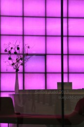 Purple lit wall, Cannon Place