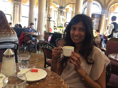 Coffee at the famous Cafe Sacher in Vienna