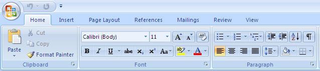 Microsoft Office 2007 Ribbon