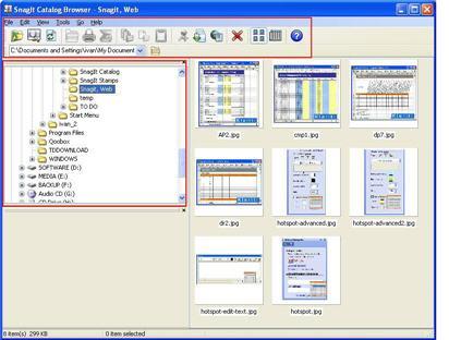 Snagit Catalog Browser