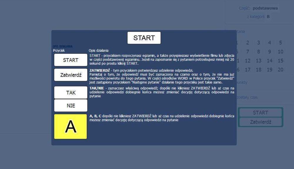 Test kategorii b - Nowe egzaminy na prawo jazdy 2013