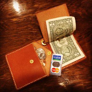 俺の財布、革、手作り