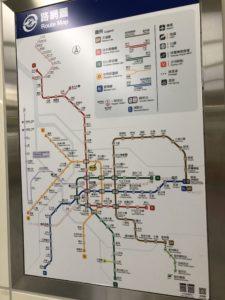 台湾、電車、路線図