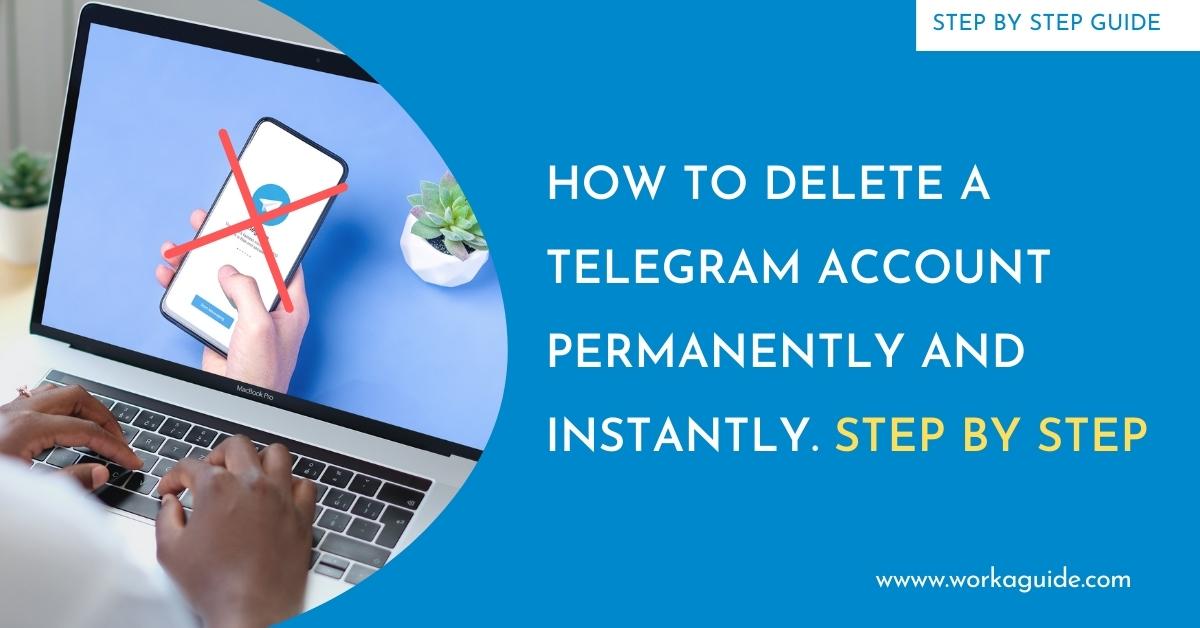 delete a telegram account