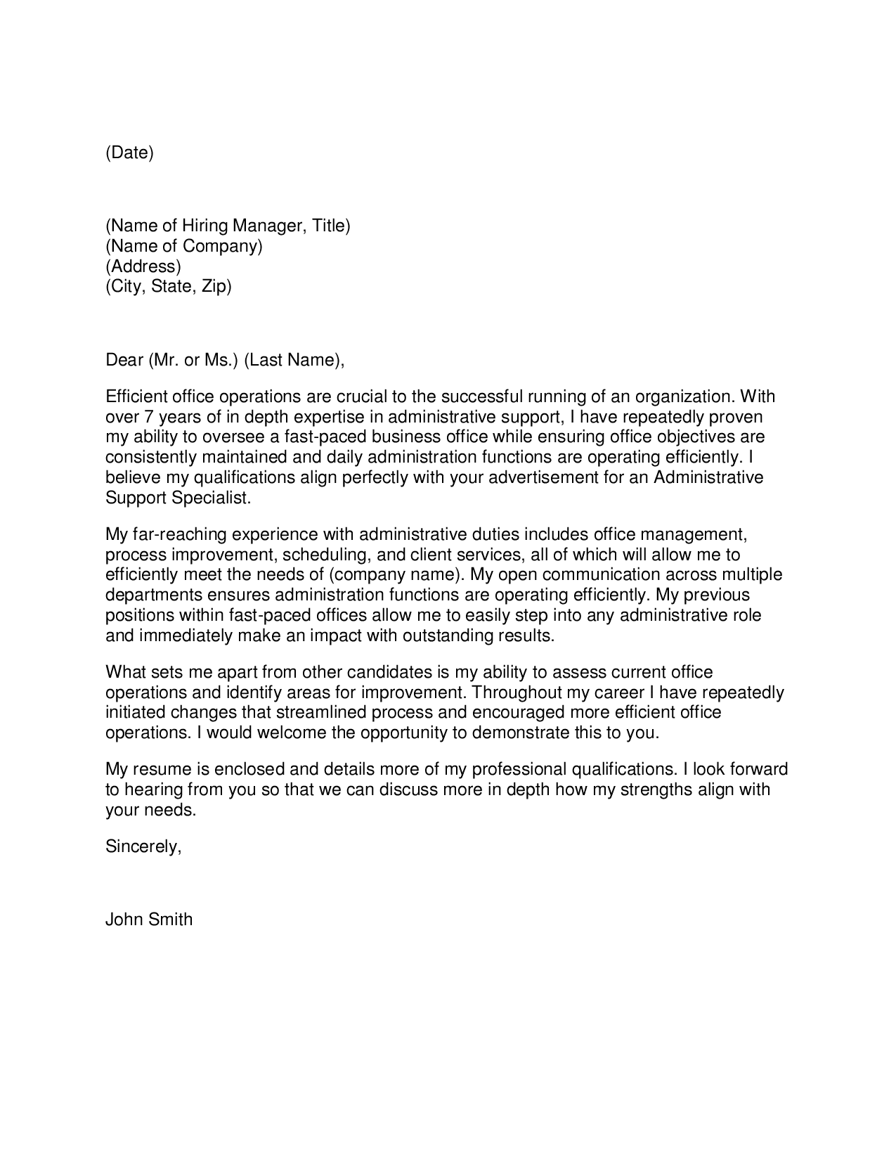 best executive assistant cover letter examples livecareer with regard to office assistant cover letter administrative - Cover Letters For Administration