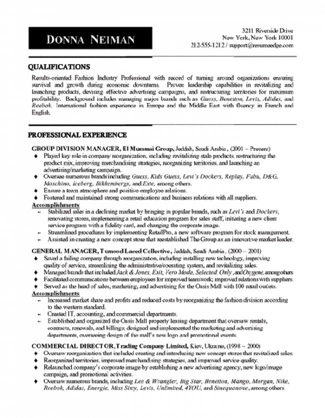 Brand Manager Resume