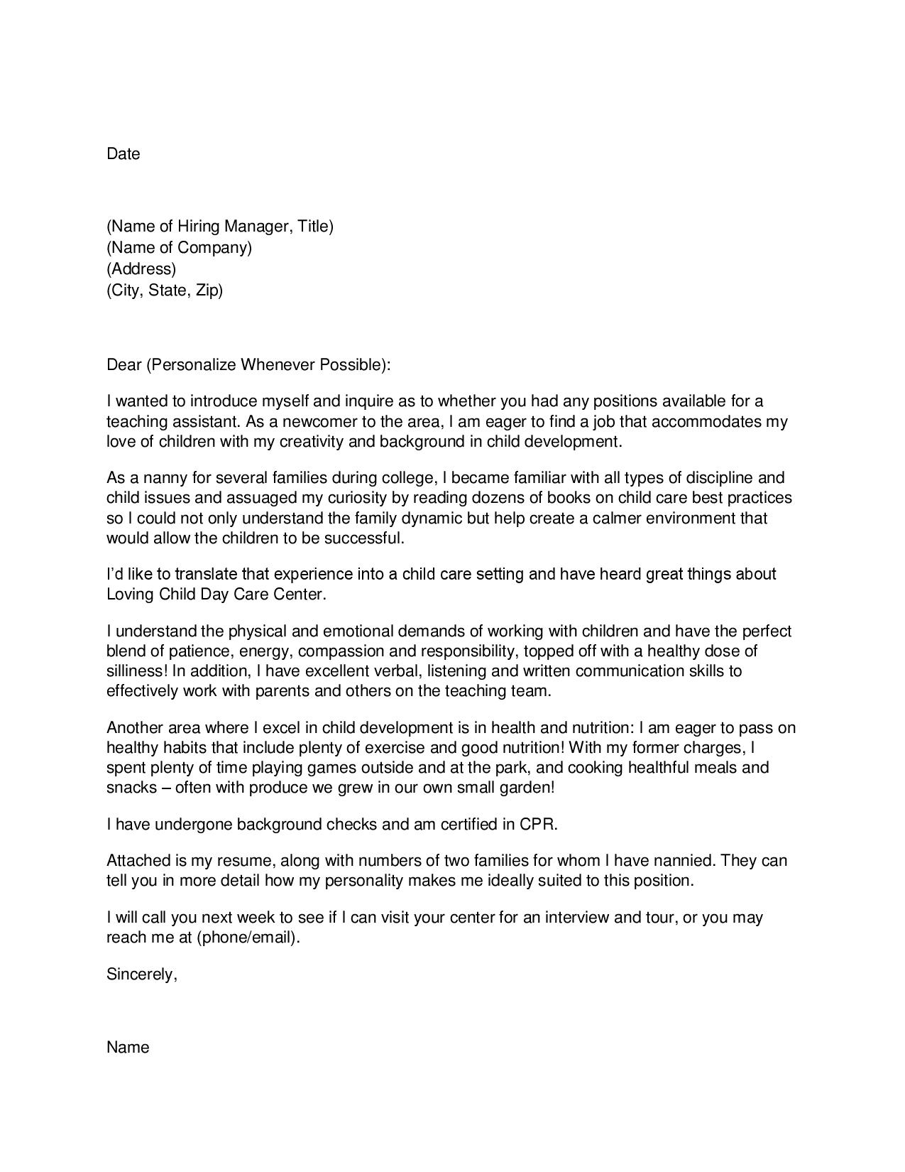 Family Worker Cover Letter Bid Administrator Sample Resume Child Care 2