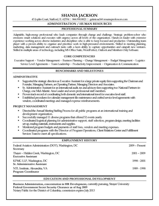 Senior HR Administrator Resume