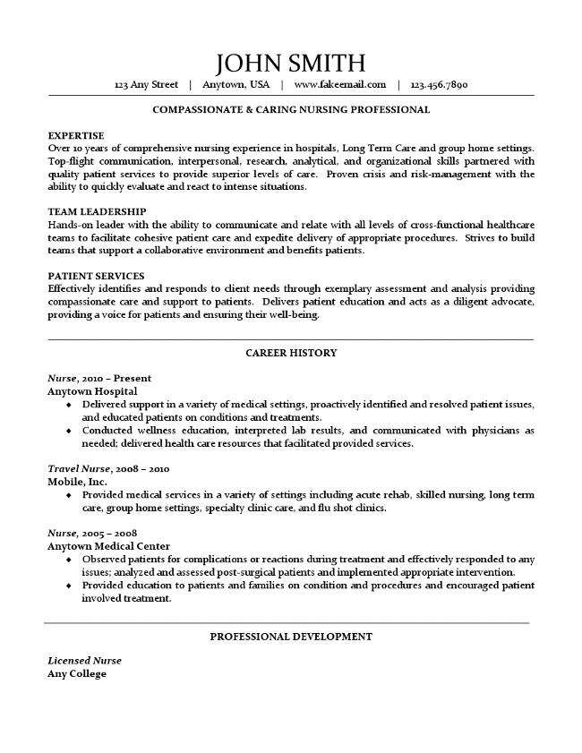 research nurse resumes