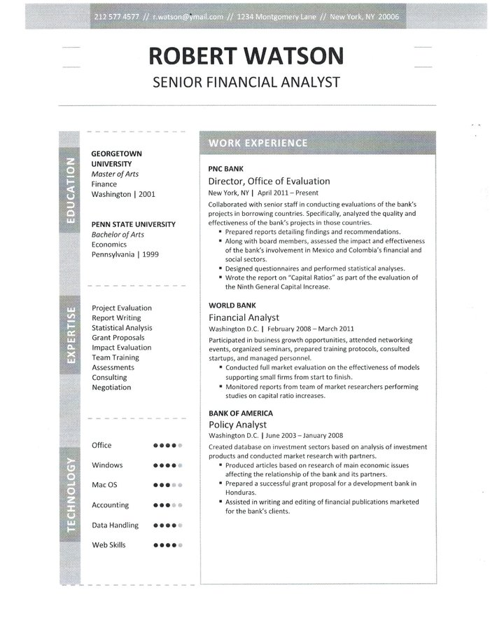 Financial Analyst Resume