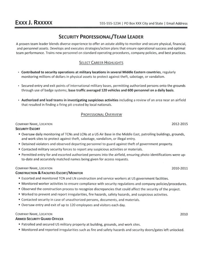 corporate physical security guard sample resume officer resume - Corporate Physical Security Guard Sample Resume