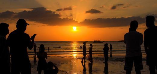 Sunset view in Boracay beach
