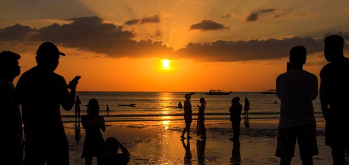 Sunset view in Boracay beach