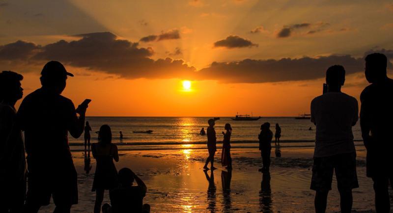 Sunset in Boracay beach