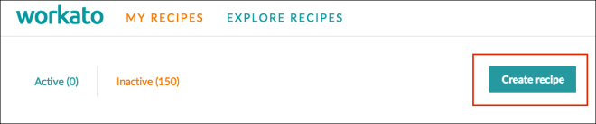 Create recipe CTA