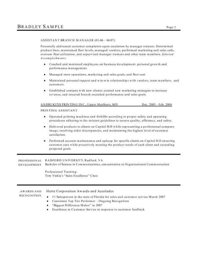 Application Manager Resume - Resume Sample